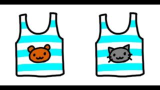 キャラクターのイラストが描かれた子供服