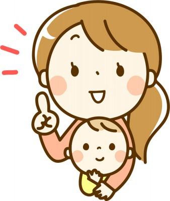 赤ちゃんを抱っこして話をする母親