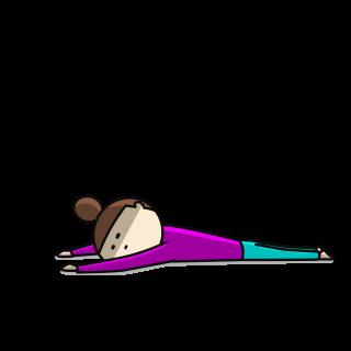 疲れて横たわる女性のイラスト