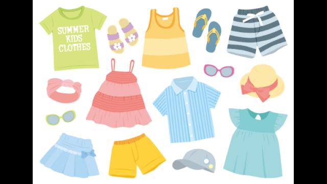 子どもの衣類のイラスト