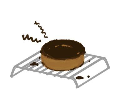 失敗した手作りケーキのイラスト